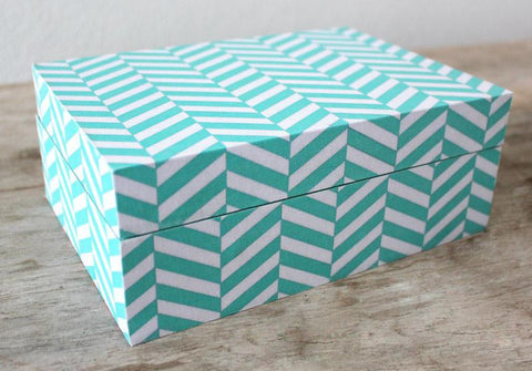 Chevron Storage Box - The Chic Nest