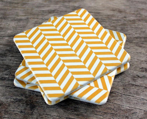 Chevron Coasters Set of 4 - The Chic Nest