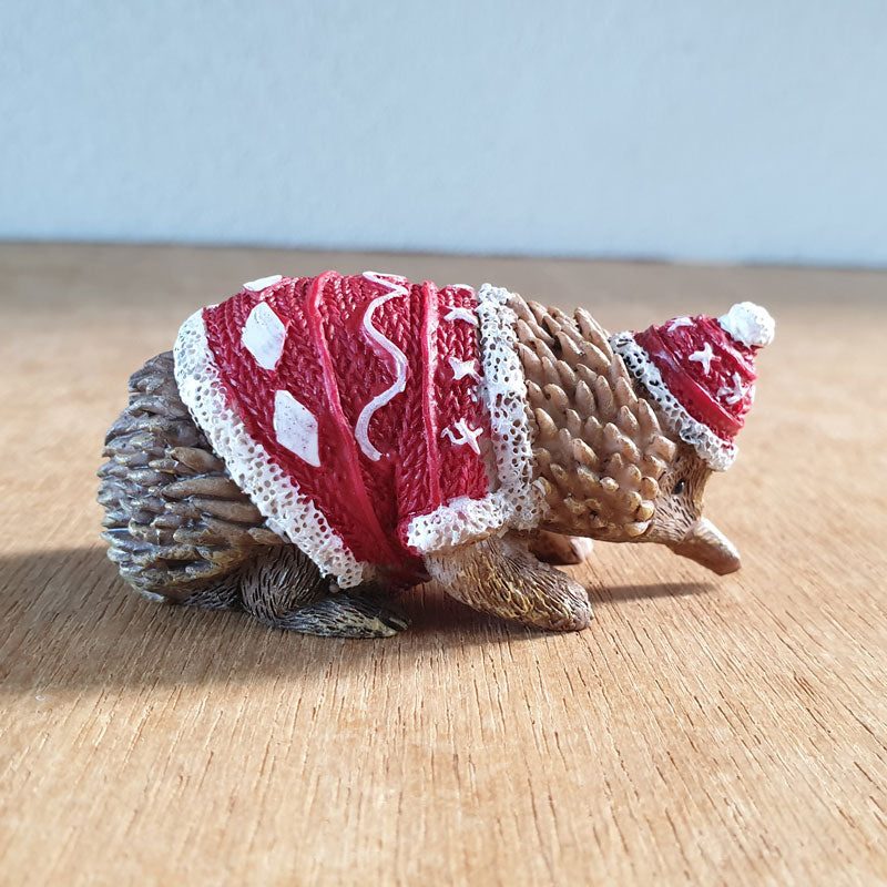 Christmas Echidna Figurine - The Chic Nest