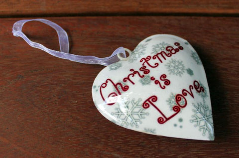 Christmas is Love Ornament - The Chic Nest