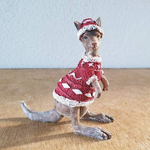 Christmas Kangaroo Figurine - The Chic Nest