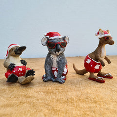 Christmas Platypus In Boardies Figurine