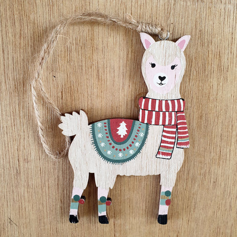 Christmas Llama Hanging Ornament