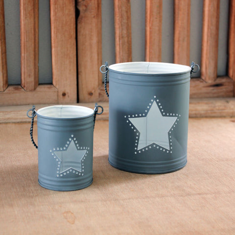 Metal Cut Out Star Lanterns