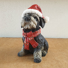 Sitting Terrier Christmas Figurine - Large - The Chic Nest