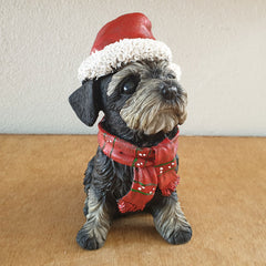 Sitting Terrier Christmas Figurine - Large