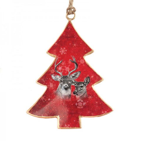 Red Deer Christmas Tree Ornament