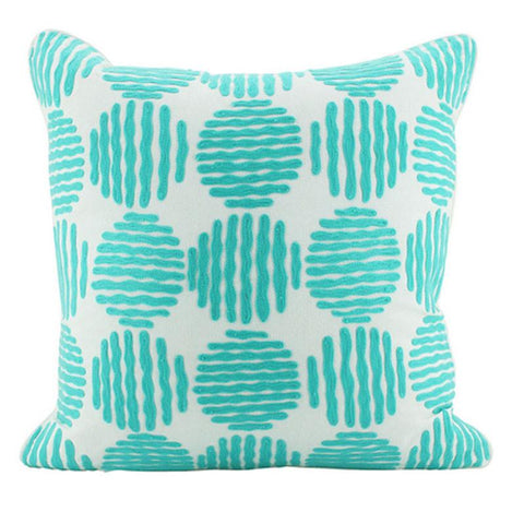 Circles Mint Cushion - The Chic Nest