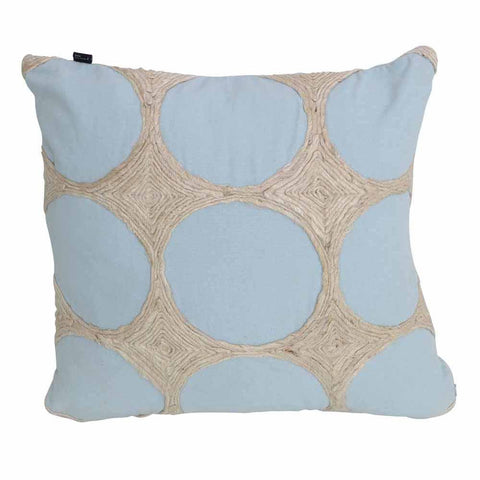 Circles Light Blue Cushion