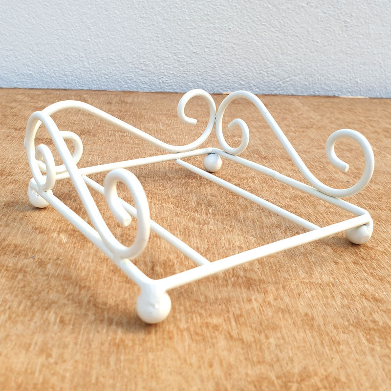 Decorative Coaster Holder - White