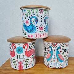 Coffee, Tea & Sugar Canister - Set of 3