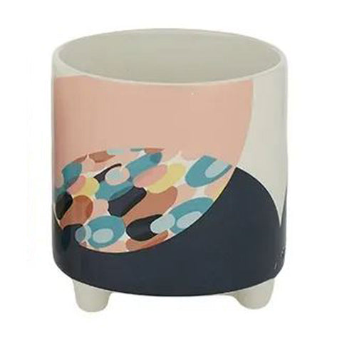 Colourful Ceramic Footed Planter (B)