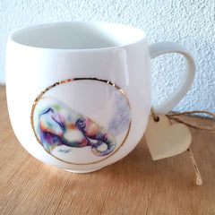 Colourful Elephant Gift Boxed Mug - The Chic Nest