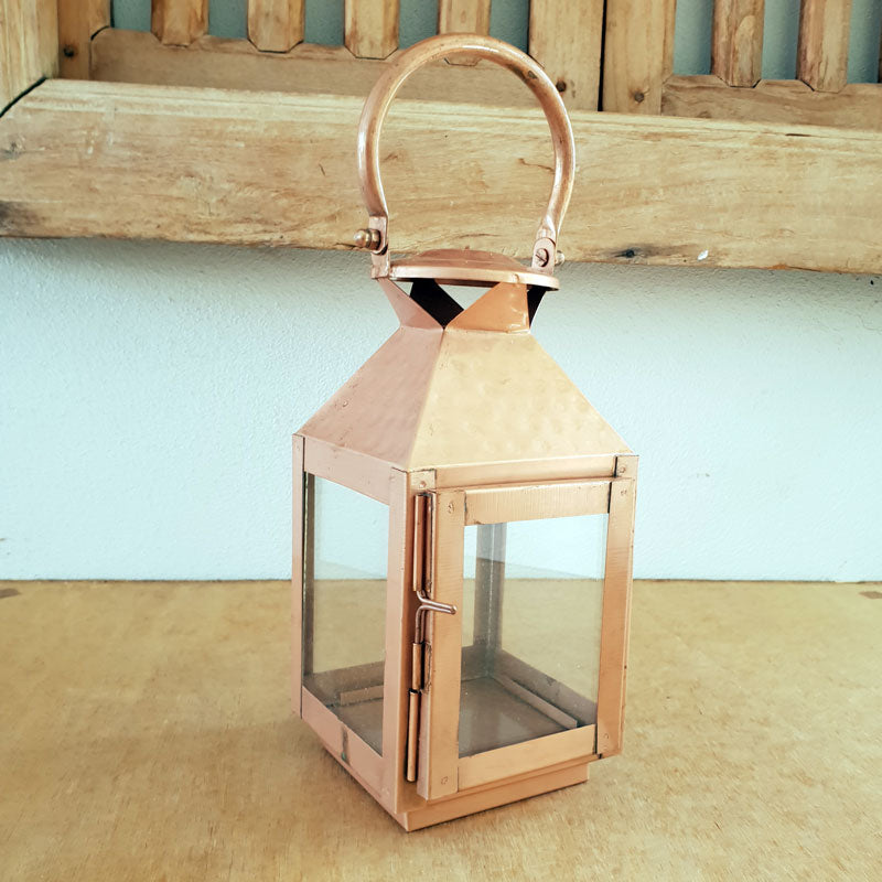 Handmade Copper Metal Lantern - The Chic Nest
