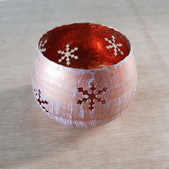 Copper Snowflake Votive - The Chic Nest