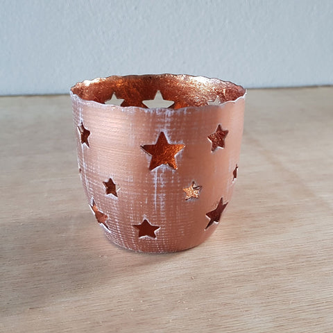Copper Cutout Star Votive