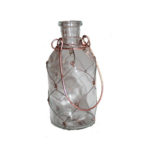 Handcrafted Glass & Wire Bottle