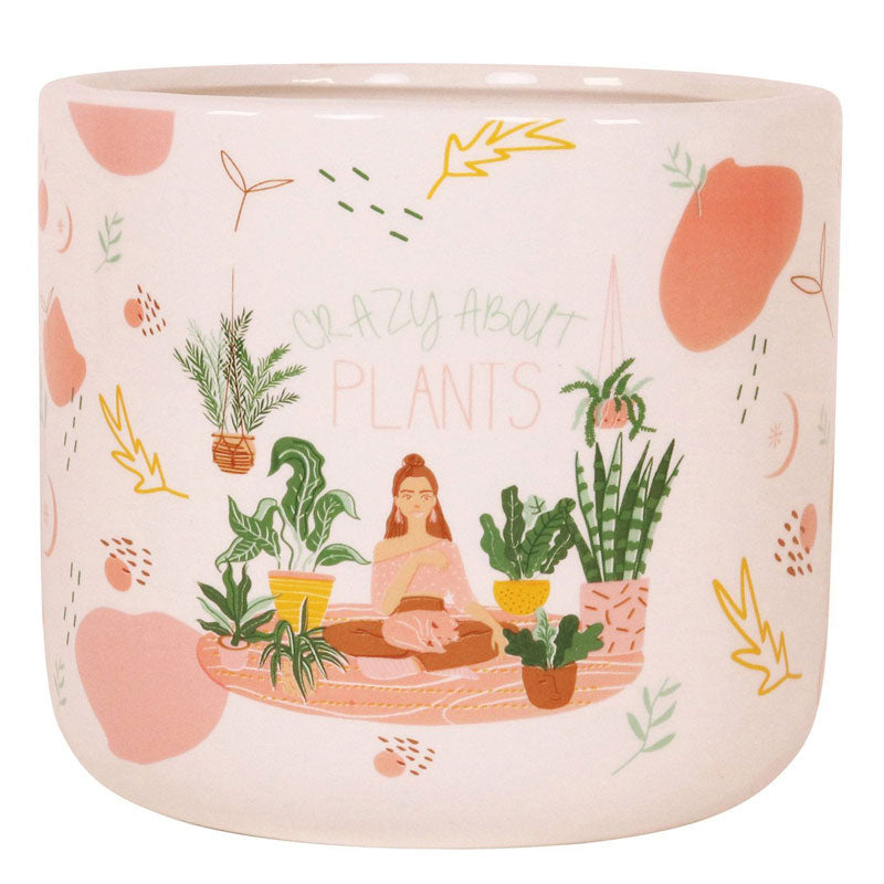 Crazy About Plants Ceramic Planter Pot