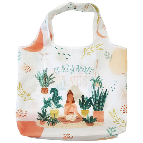 Crazy About Plants Eco Shopping Bag