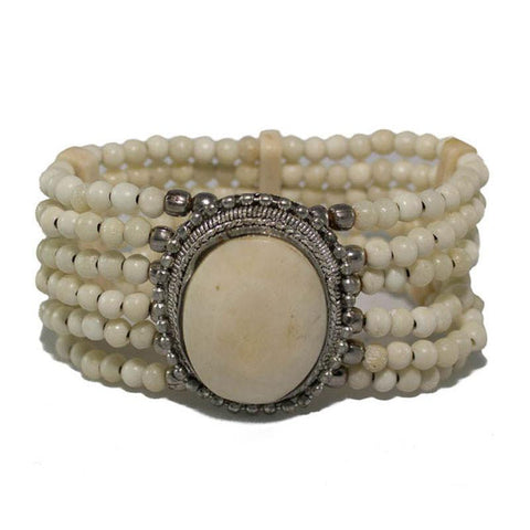 Cream Beaded Bracelet - The Chic Nest