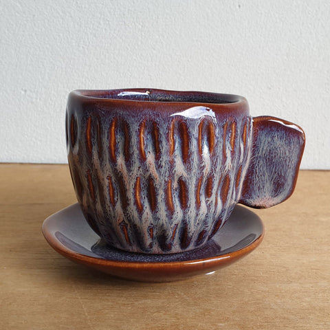 Cup And Saucer Tea Party Planter - Ochre