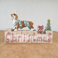 Dachshund Christmas Blocks - The Chic Nest