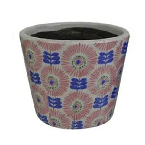 Daisy Ceramic Planter - Pink