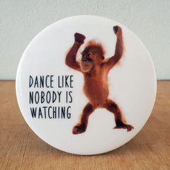 Dance Like Nobody Is Watching Orangutan Coaster - The Chic Nest