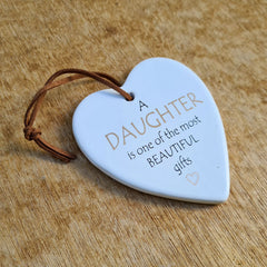 Daughter Hanging Heart Ornament