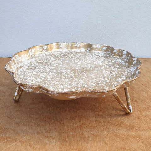 Gold Metal Tray On Legs