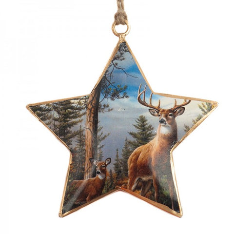 Deer In The Wood Christmas Star Ornament