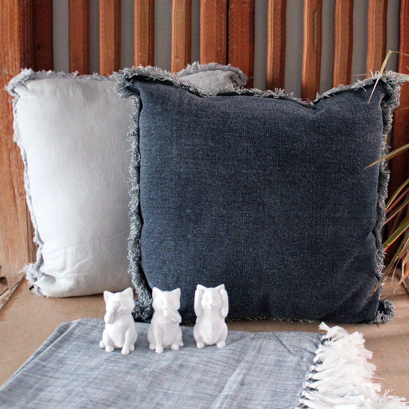 Grey Linen Cushion - The Chic Nest