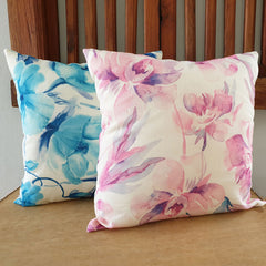 Blue Dahlia Cushion - The Chic Nest