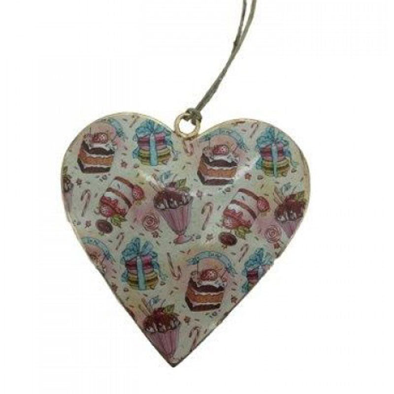 Desserts Metal Heart Ornament - The Chic Nest