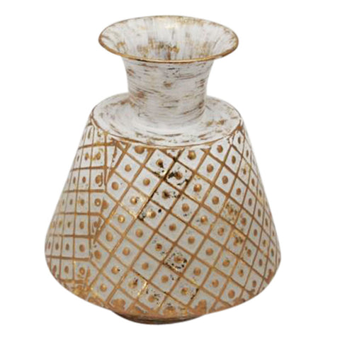 Diamond Gold Grey Vase 25cm - The Chic Nest