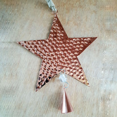 Dimple Star Hanging Ornament - The Chic Nest