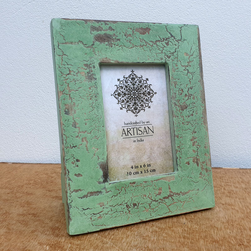 Distressed Mint Photo Frame 4 x 6