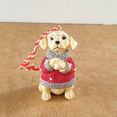Dog Christmas Hanging Ornament - The Chic Nest