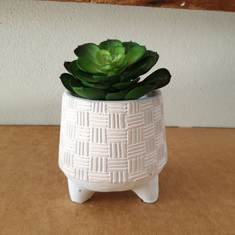 Pink Dash and Dot Planter On Legs - The Chic Nest