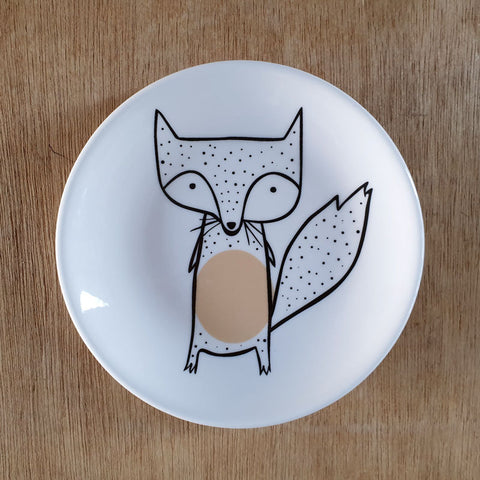 Dotted Fox Ceramic Trinket Dish