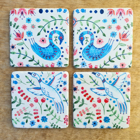 Dove Set of 4 Coasters