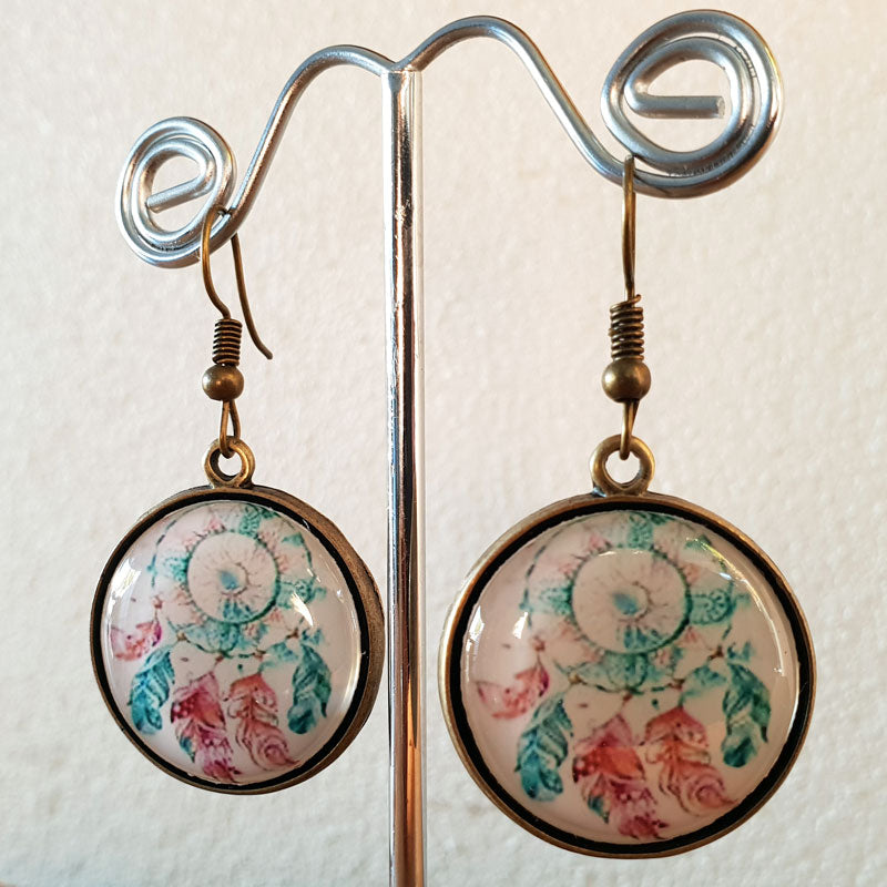 Dreamcatcher Brass Earrings - The Chic Nest