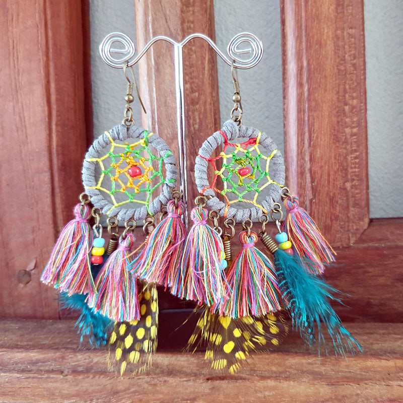 Dreamcatcher Mulitcolour Earrings - The Chic Nest