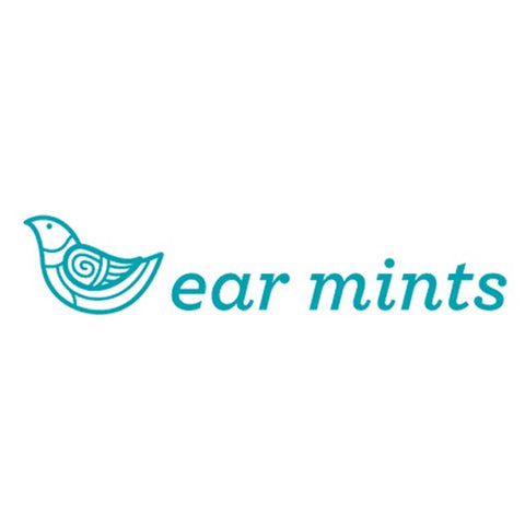 Brushed Metal Balloon Ear Mints Earrings - Silver