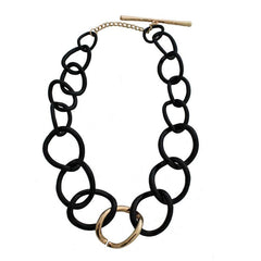 Ebony Link Necklace - The Chic Nest
