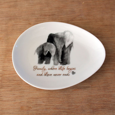Elephant Family Trinket Dish