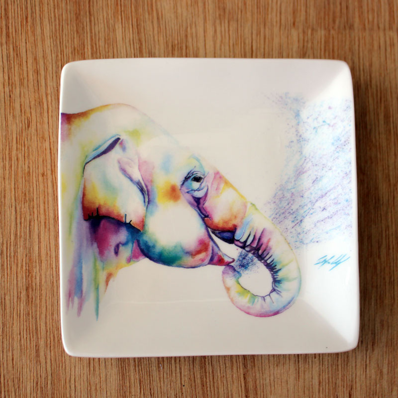 Colourful Elephant Trinket Dish - The Chic Nest