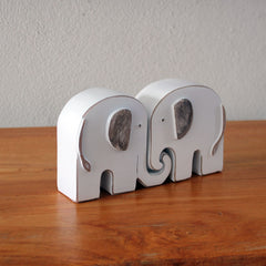 Elephants in Love Figurine Set