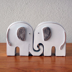 Elephants in Love Figurine Set - The Chic Nest