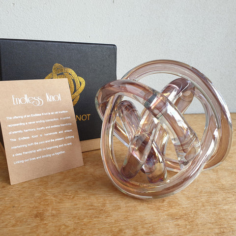 Endless Knot Pink Metallic - The Chic Nest